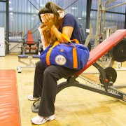 Sac de sport bleu Université Paris 13